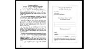 Livret de prière original - Version Anglaise
