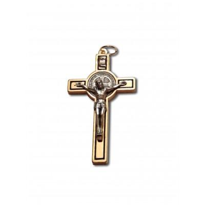 Médaille-Crucifix de St-Benoît en laiton