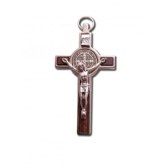 Médaille-Crucifix de St-Benoît argenté